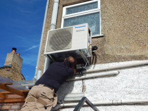 eco_installer_installing_air_to_air_panasonic_unit_ely_cambs